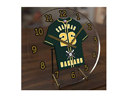 - FanPlastic M L B Baseball Jersey Themed Clock - All American League Team Colours - Our Very OWN 'Let's GO' Range of Clocks !! (Let's Go A's Edition)