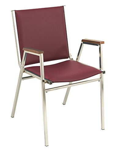 - KFI Seating 411 Stacking Chair, 1-Inch, Commercial Grade, Burgundy Vinyl, Made in the USA