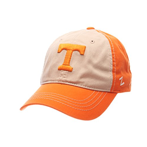 Zephyr NCAA Tennessee Volunteers Men's Sigma Relaxed Cap, Stone/Light Orange, Adjustable -