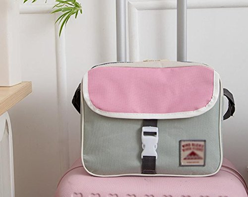 Cdet Lagerung Paket Multifunktion Reise Praktisch Nylon PU Material Aufbewahrungs Paket Kuriertasche Schulter Taschen Beutel Hellgrau