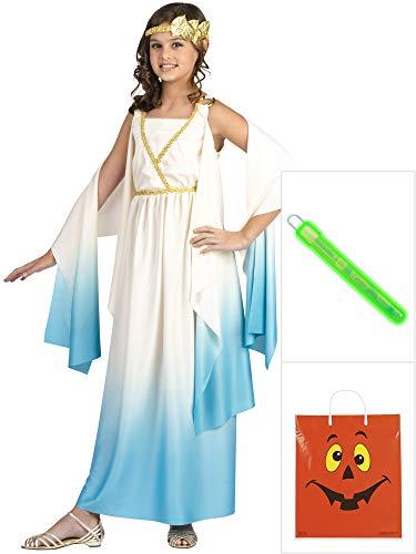Greek Goddess Costume Kit L With Halloween Treat Bag -