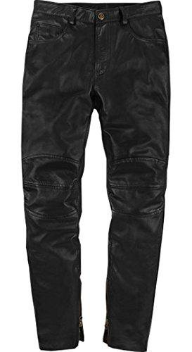 Black Lambskin Leather Pants - Men's Leather Jean Leather Pants, Black Original Lambskin Street Wear, Retro Bikers, for Sale Amazon (40)