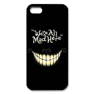Alice In Wonderland We Are All Mad Here Case For Iphone 6 4.7 Inch Cover S 5 Case Personalized Durable Plastic Print Back Cover Case For Iphone 6 4.7 Inch Cover 5