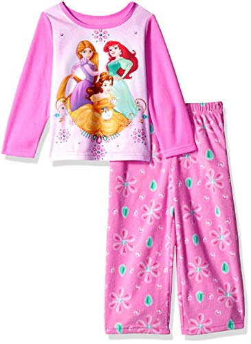 Disney Clothes For Children - Disney Girls' Toddler Multi-Princess 2-Piece Fleece