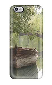 Durable Case For The iphone 4 4s - Eco-friendly Retail Packaging(pretty Boat In A River )