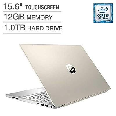 "2018 Newest HP Pavilion Business Flagship Laptop PC 15.6"" HD Touchscreen Display 8th Gen Intel i5-8250U Quad-Core Processor 12GB DDR4 RAM 1TB HDD Backlit-Keyboard Bluetooth B&O Audio Windows 10"
