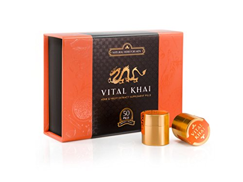 Vital Khai Box – Natural and Herbal Supplement for Men – Increase Energy, Stamina and Health (Full Box, 50 Supplements)