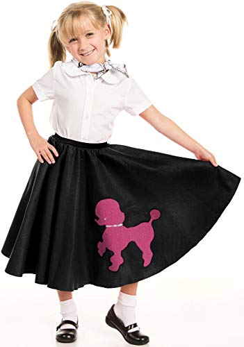(Kidcostumes Black Poodle Skirt with Musical Note Printed)