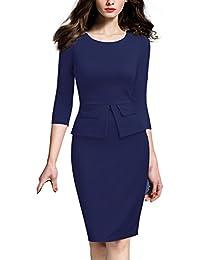 Women Colorblock Wear to Work Business Bodycon One-Piece Dress