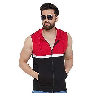 GRITSTONES Men's Regular Fit Sleeveless T-Shirt