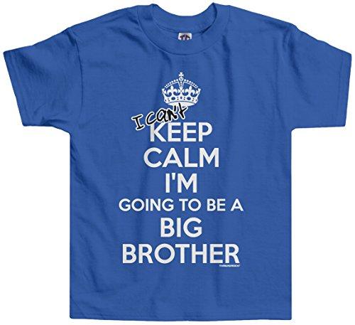 Threadrock Little Boys' I Can't Keep Calm (Big Brother) Toddler T-Shirt 2T Royal Blue