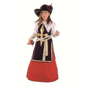Limit Sport - Disfraz de mosquetera Constanza para niña (MI396)