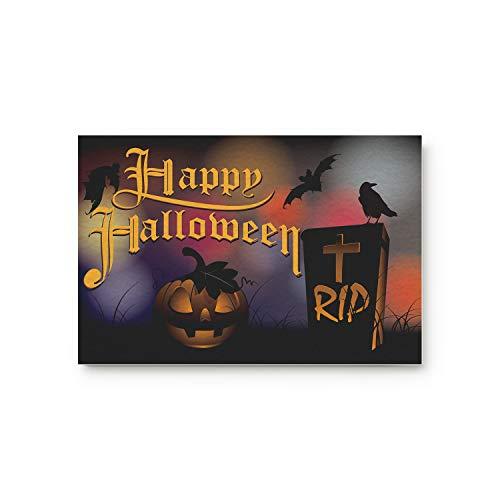 Z&L Home Halloween Pumpkin Gravestone Decorative Doormats Indoor