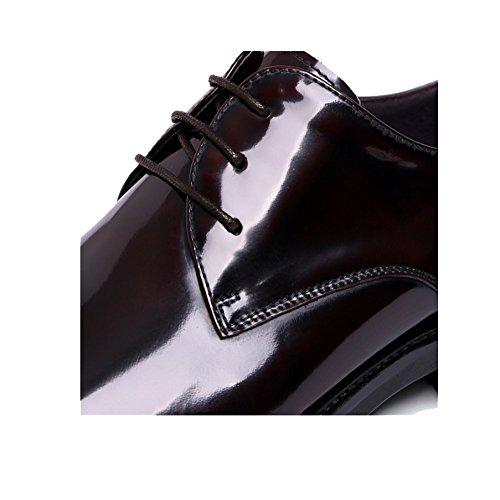 America Scarpe Eleganti Scarpe in Appuntito Pelle da Darkbrown Lucente Uomo Stringate Comodo E NIUMJ Elegante Tendenza Europa Ew7n1qEg