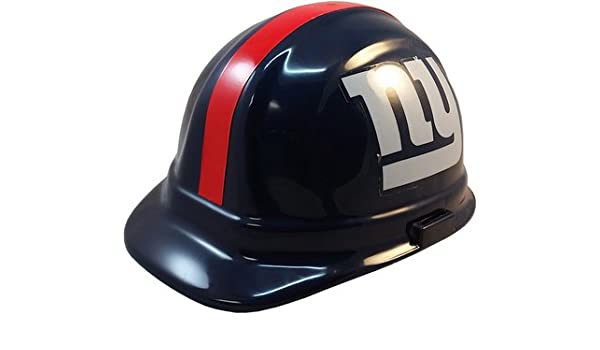 e63ff089e0e Amazon.com   Texas American Safety Company NFL New York Giants Hard Hats  with Ratchet Suspension   Sports   Outdoors