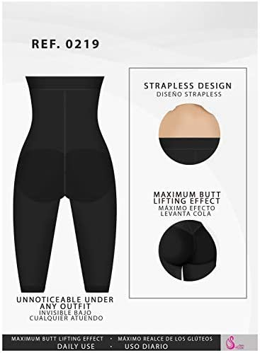 Faja Colombiana Salome Levanta Cola Women/'s Strapless Body Suit Butt Lifter