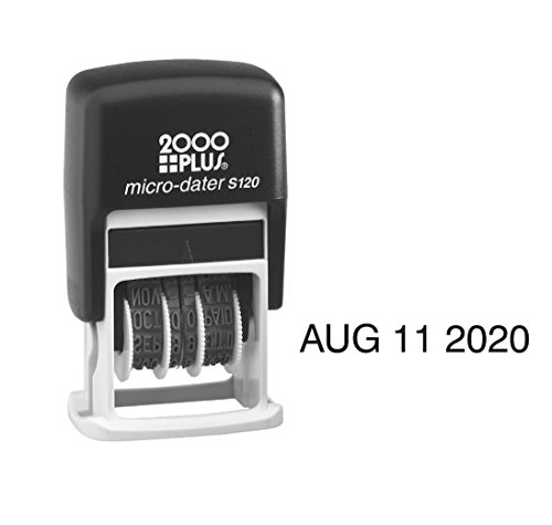 Self Plus 2000 Inking (MICRO DATER 2000 PLUS Self Inking Rubber Stamp - Black Ink S120)