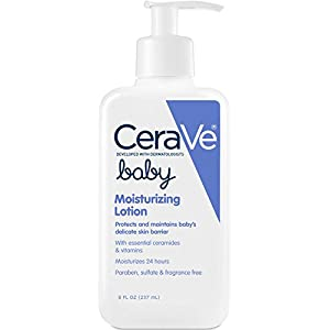 CeraVe Baby Lotion 8 oz with Essential Ceramides and Vitamins for Protecting and Maintaining Baby's Delicate Skin