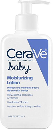 CeraVe Baby Lotion 8 oz with Essential Ceramides and Vitamins for Protecting...