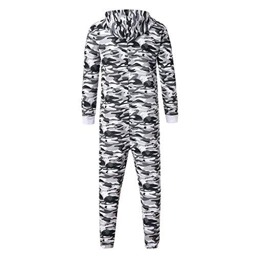 Emerayo Unisex Jumpsuit Men Women Camouflage Zipped Pocket Jumpsuit Autumn Romper