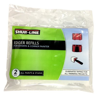 (Shur-Line 2001046 Edger Refill, 2-Pack, For Use w/ Corner Painter and Edger (4.75 inches x 3.75 inches))