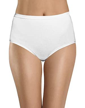 Hanes Women's Classic Cotton Brief Panties, #CW40 (Pack of 3)