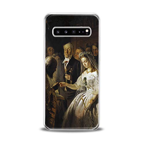 Lex Altern TPU Case for Samsung Galaxy s10 5G Plus 10e Note 9 s9 s8 s7 Unequal Marriage Slim fit Smooth Drawing Soft Gift Vasily Pukirev Lightweight Canvas Clear Man Design Cover Print Flexible Woman