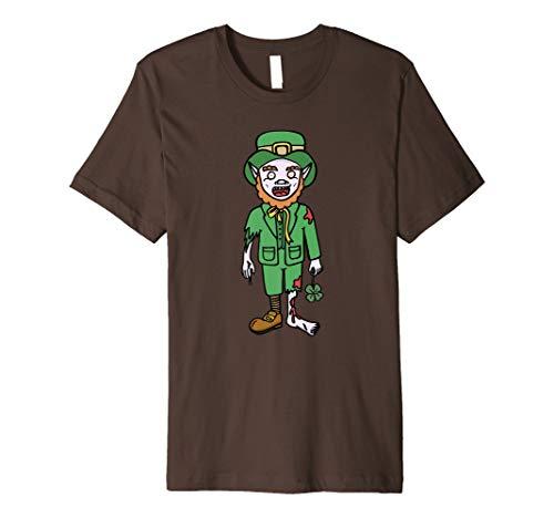 Zombie TShirt Leprechaun Halloween Costume Dead Scary Gifts ()