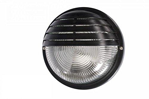 Plafoniera Da Esterno A Batteria : Lampada tonda nera giardino illuminazione esterno applique parete