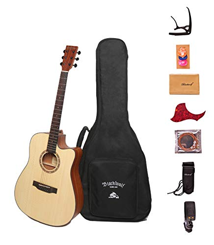 Black Wolf Beginners Acoustic Guitar 41
