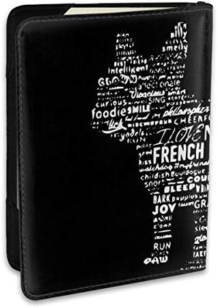 French Bulldog フレンチブルドッグ パスポートケース メンズ 男女兼用 パスポートカバー パスポート用カバー パスポートバッグ ポーチ 6.5インチ高級PUレザー 三つのカードケース 家族 国内海外旅行用品 多機能