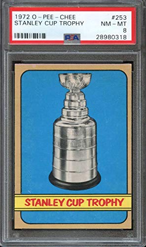 1972-73 O-PEE-CHEE #253 STANLEY CUP TROPHY PSA 8