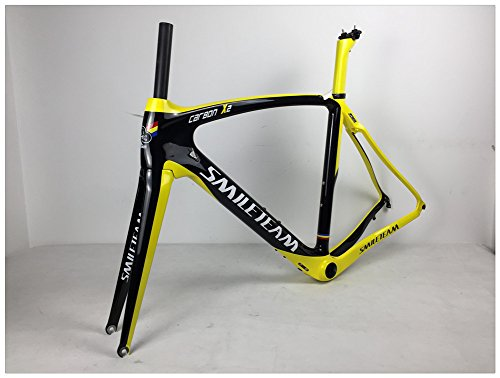 Smileteam 2018 Full Carbon Road Bike Frame Racing Bicycle Carbon Frameset With Fork + Seatpost + Headset+ BB386+Clamp