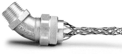 Leviton L7802 1/2-Inch, 45-Degree, Male, Aluminum Body, Deluxe Cord Sealing Strain-Relief, .250 to .375 Cord Range