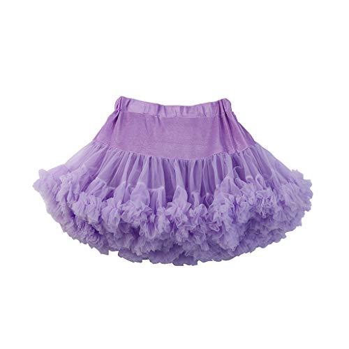 SIN vimklo Girls Elastic Waist Chiffon Petticoat Tulle Skirt Princess Ballet Dance Pettiskirts