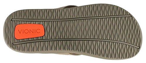 Vionic Unisex Wave Toe Post Sandal Khaki