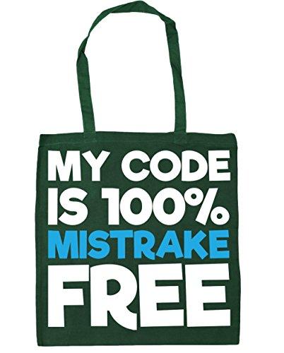 HippoWarehouse My code is 100% mistrake gratis Einkaufstasche Fitnessstudio Strandtasche 42cm x38cm, 10 liter - Flaschengrün, One size