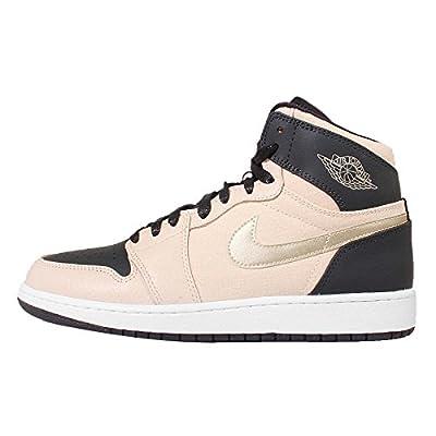 Jordan Kids' Nike Air 1 Retro High Gs White/Black/Metalicgold 832596-209