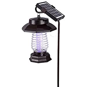 Amzh solar mosquito l mpara al aire libre repelente de insectos inicio interior recargable - Lamparas anti insectos ...