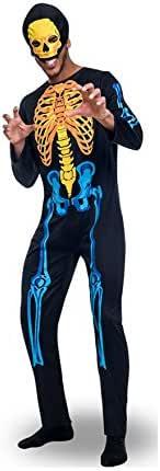 Disfraz de Esqueleto de colores para hombre: Amazon.es: Juguetes y ...