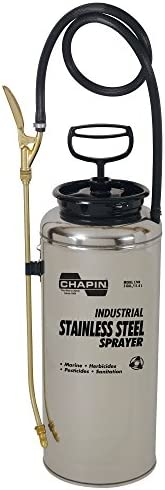 Chapin 1749 3-Gallon Industrial Stainless Steel Sprayer for Fertilizer, Herbicides and Pesticides 1 Sprayer Package
