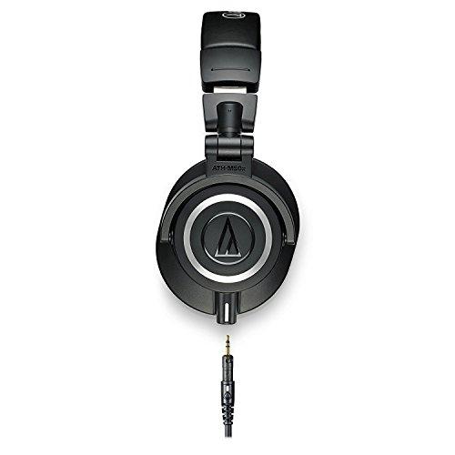 Audio-Technica ATH-M50x Professional Monitor Headphones + Slappa Full Sized HardBody PRO Headphone Case (SL-HP-07) - Image 2