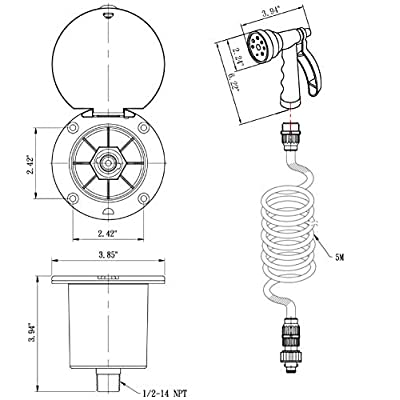 Dura Faucet DF-SA188-BK RV Exterior Quick Connect Sprayer, Hose, and Utility Spray Dock Kit (Black): Automotive