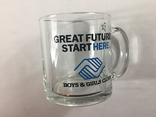 Boys & Girls Clubs Glass Mug VTG CUP Great Futures Start Here USA Made Gift -