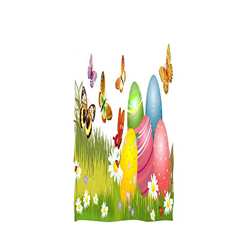 (bath towel custom colorful easter eggs and spring blossoms ap 15 multicolor)