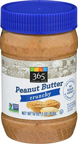 Peanut & Nut Butters: 365 Everyday Value Peanut Butter Crunchy