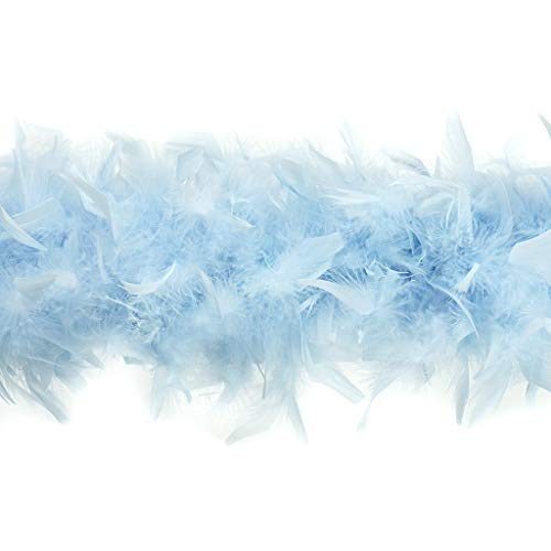 Feather Boa Costume (Zucker Feather Products Heavy Weight Decorative Chandelle Boa, Light)