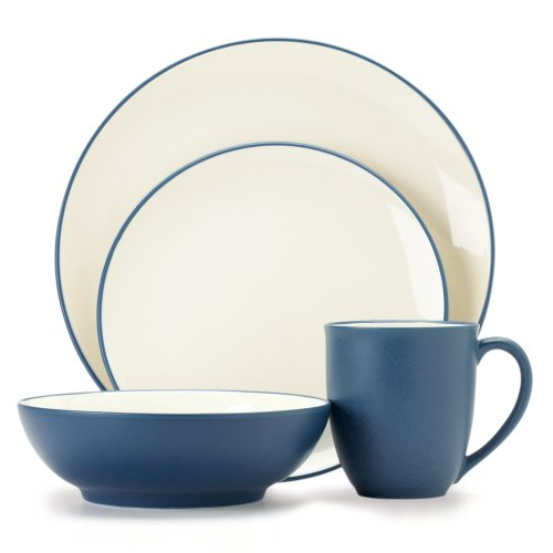 Noritake Colorwave Blue 4-Piece Place Setting (Blue 4 Place Setting Piece)
