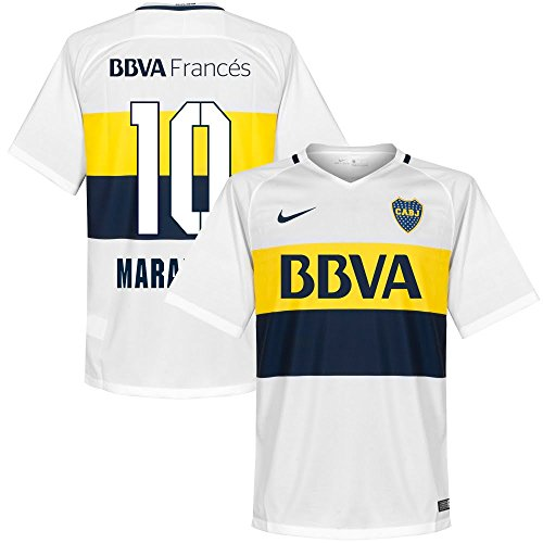 Boca Juniors Away Jersey (Boca Juniors Away Maradona Jersey 2016 / 2017 (Fan Style Printing) - XXL)