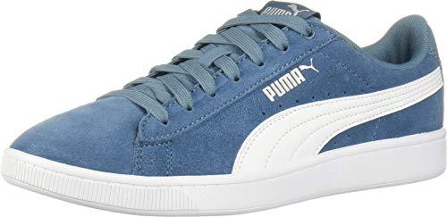 PUMA Women's Vikky Sneaker, Bluestone White Silver, 11 M US
